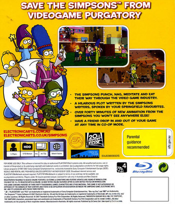 The Simpsons Game Array backM (BLES00142)
