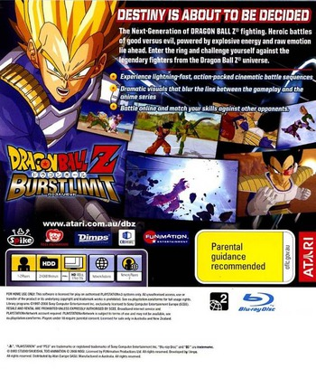 Dragon Ball Z: Burst Limit PS3 backM (BLES00231)