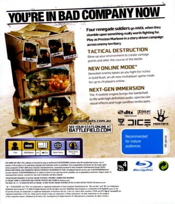Battlefield: Bad Company PS3 backM (BLES00259)