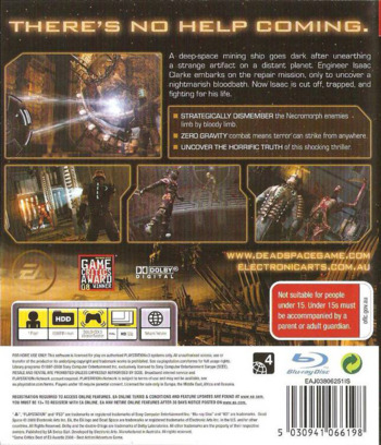 Dead Space PS3 backM (BLES00308)