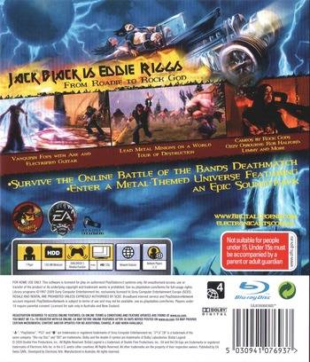 Brutal Legend PS3 backM (BLES00562)