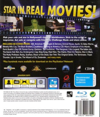 Yoostar 2: In the Movies PS3 backM (BLES01080)