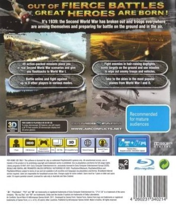 Air Conflicts: Secret Wars PS3 backM (BLES01316)