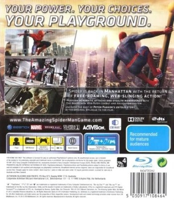 The Amazing Spider-Man PS3 backM (BLES01547)
