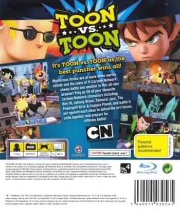Cartoon Network: Punch Time Explosion XL PS3 backM (BLES01622)