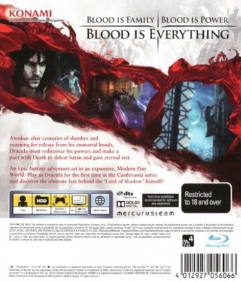 Castlevania: Lords of Shadow 2 PS3 backM (BLES01644)
