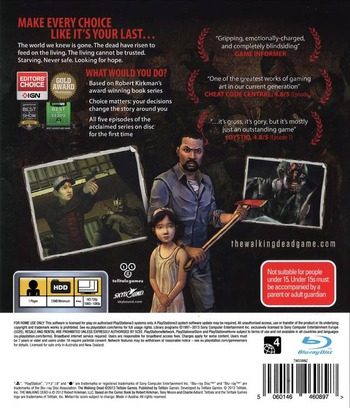 The Walking Dead: A Telltale Games Series PS3 backM (BLES01833)