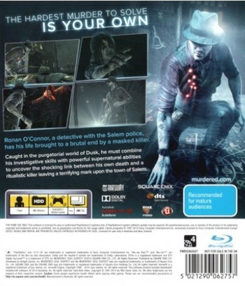 Murdered : Soul Suspect PS3 backM (BLES01836)