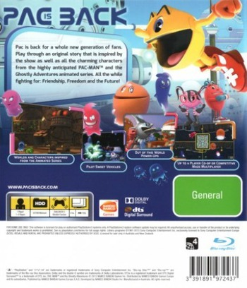 Pac-Man and the Ghostly Adventures PS3 backM (BLES01901)