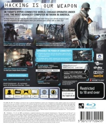 Watch Dogs PS3 backM (BLES01933)