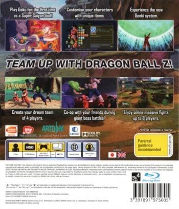 Dragon Ball Z: Battle of Z PS3 backM (BLES01941)