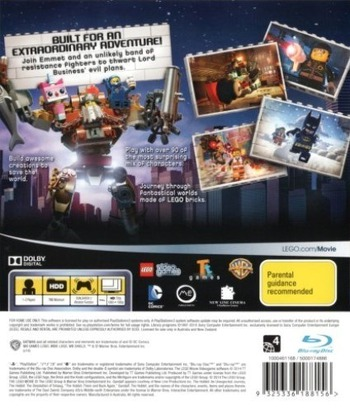 The LEGO Movie Videogame PS3 backM (BLES01964)