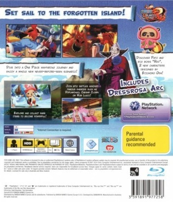 One Piece: Unlimited World Red PS3 backM (BLES02020)
