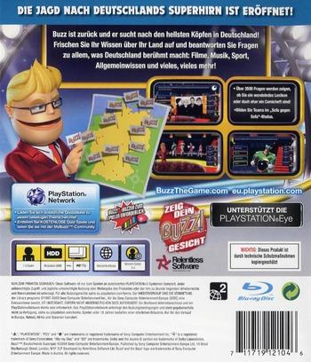 Buzz! Deutschland Superquiz PS3 backM (BCES00350)