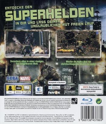 Der Unglaubliche Hulk: Das offizielle Videospiel PS3 backM (BLES00289)