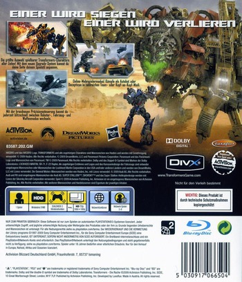 Transformers: Die Rache PS3 backM (BLES00577)