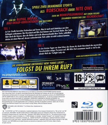 Watchmen: Das Ende Ist Nah - Tail 1&2 PS3 backM (BLES00613)