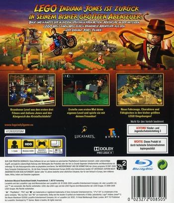 LEGO Indiana Jones 2: Die Neuen Abenteuer PS3 backM (BLES00763)
