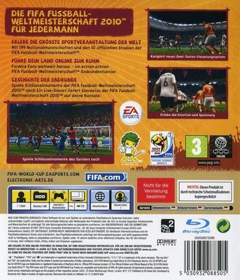 FIFA Fussball: Weltmeisterschaft Südafrika 2010 PS3 backM (BLES00796)