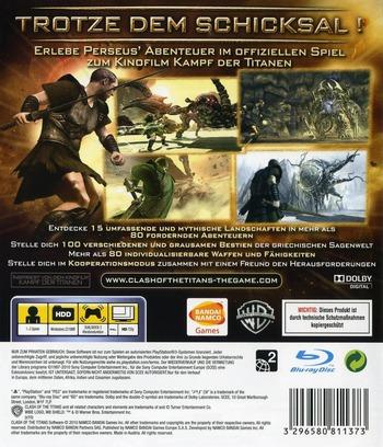 Kampf der Titanen: Das Spiel PS3 backM (BLES00841)