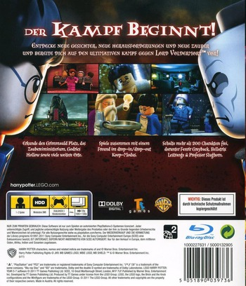 LEGO Harry Potter: Die Jahre 5-7 PS3 backM (BLES01348)
