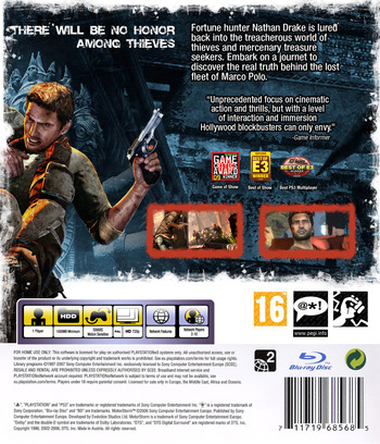 Uncharted 2: Among Thieves PS3 backM (BCES00509)