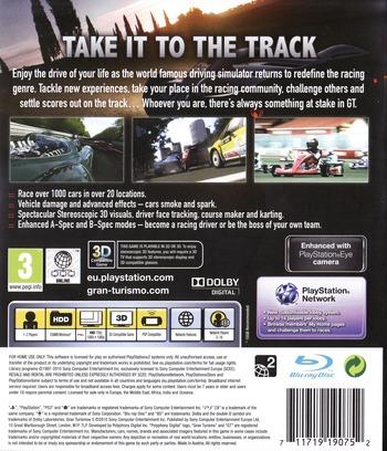 Gran Turismo 5 PS3 backM (BCES00569)