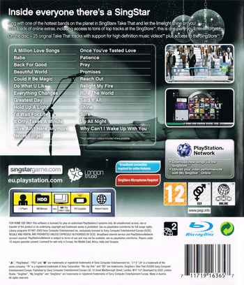 SingStar: Take That PS3 backM (BCES00607)