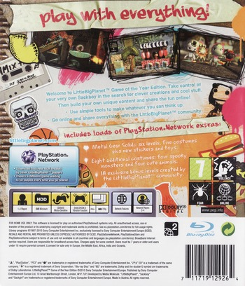 LittleBigPlanet (Game of the Year Edition) PS3 backM (BCES00611)