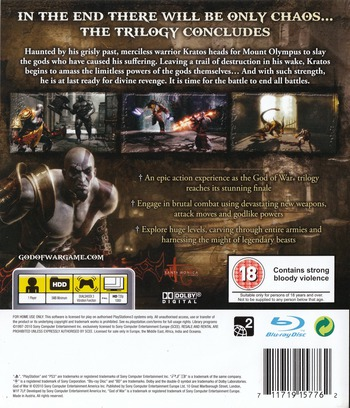 God of War III PS3 backM (BCES00799)