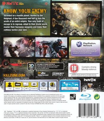 Killzone 3 PS3 backM (BCES01007)