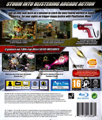 Time Crisis: Razing Storm PS3 backM (BCES01070)