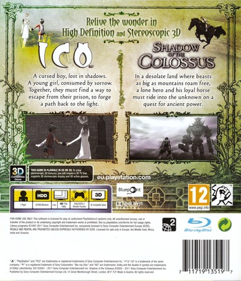 The ICO & Shadow of the Colossus Collection PS3 backM (BCES01115)