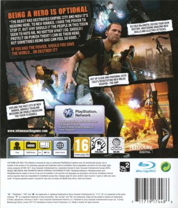 inFamous 2 PS3 backM (BCES01144)