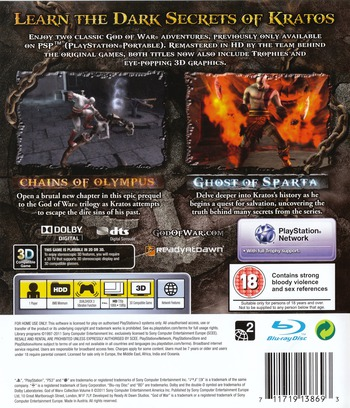 God of War Collection Volume II PS3 backM (BCES01278)