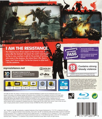 Resistance 3 PS3 backM (BCES01353)
