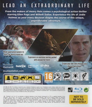Beyond: Two Souls PS3 backM (BCES01888)
