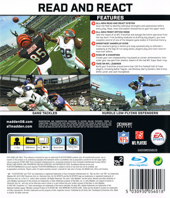 Madden NFL 08 PS3 backM (BLES00102)