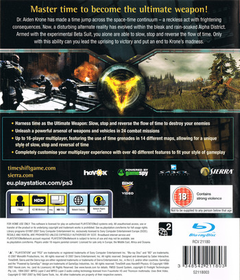 TimeShift PS3 backM (BLES00159)
