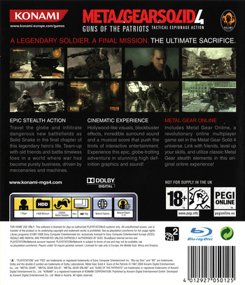 Metal Gear Solid 4: Guns of the Patriots PS3 backM (BLES00246)