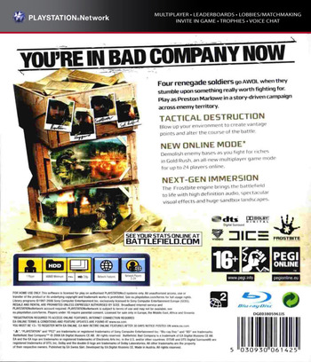 Battlefield: Bad Company Array backM (BLES00259)