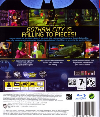 LEGO Batman: The Videogame PS3 backM (BLES00332)