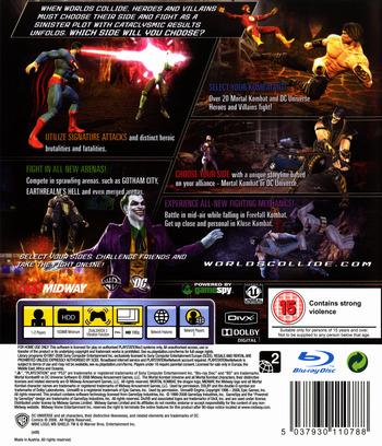 Mortal Kombat vs. DC Universe PS3 backM (BLES00441)