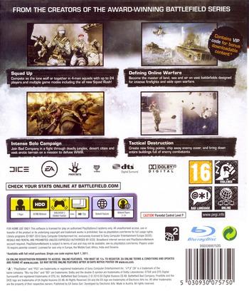 Battlefield: Bad Company 2 PS3 backM (BLES00773)