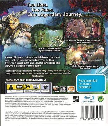 Enslaved: Odyssey to the West PS3 backM (BLES00989)