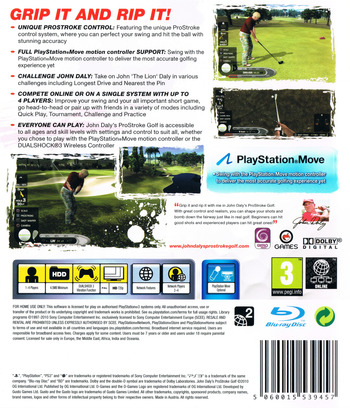 John Daly's ProStroke Golf PS3 backM (BLES01089)