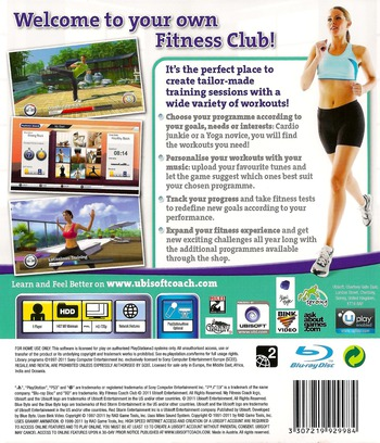 My Fitness Coach - Club PS3 backM (BLES01191)