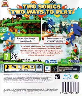 Sonic Generations PS3 backM (BLES01236)