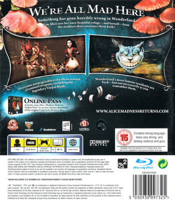 Alice: Madness Returns PS3 backM (BLES01265)