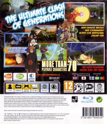 Naruto Shippuden: Ultimate Ninja Storm Generations PS3 backM (BLES01481)